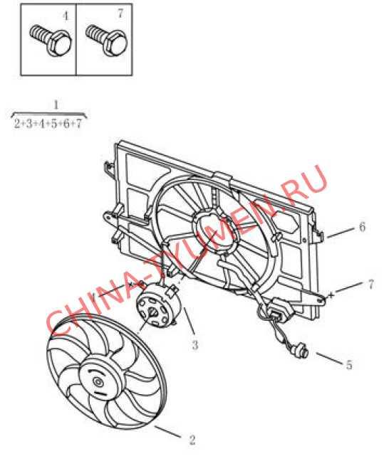 Вентилятор охлаждения одинарный  Geely Emgrand EC7 (2)