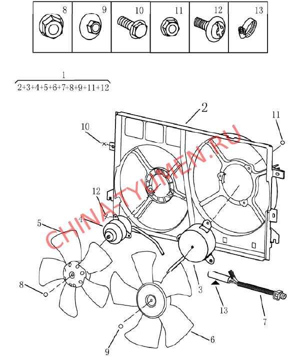 Вентилятор охлаждения Geely Emgrand EC7 (2)