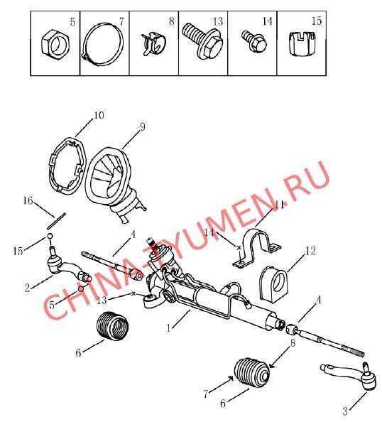 Рулевая рейка Geely Emgrand EC7 (2)